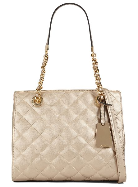 ALDO Clearbrook in champagne - Set sails for style with this quilted mini tote,...