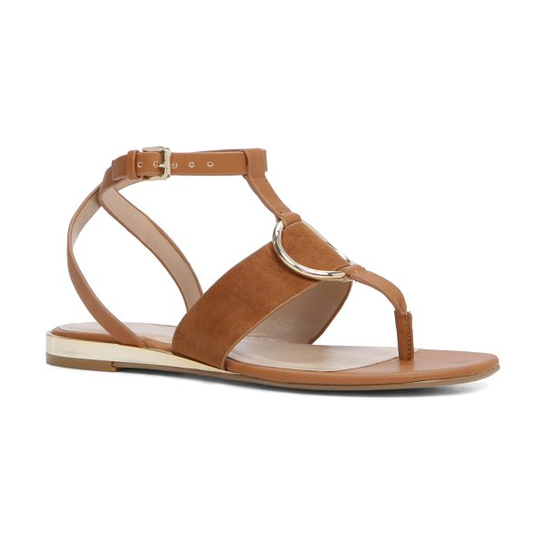 ALDO Compas in camel - Strappy and beachy, the thong sandal gets a posh...