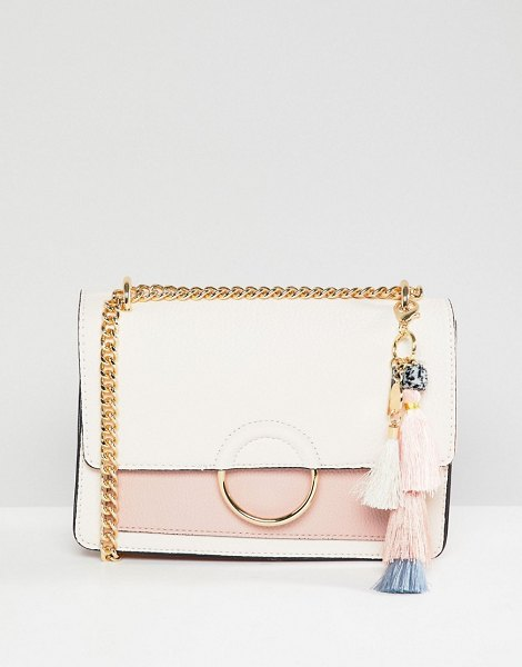 ALDO contrast flap cross body bag with pom tassel in boneblush - Cart by ALDO, Compact size, For the days when you don t...