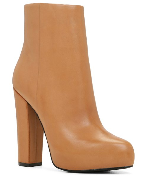 ALDO Crudien in cognac - This wear-with-anything bootie is designed for daylong...