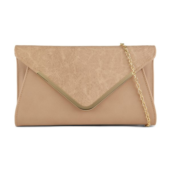 ALDO Cunnick clutch in beige/taupe - Add some visual interest to your outfit with this unique...