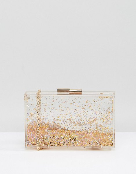 "ALDO Darown Gold Glitter Clutch Bag in gold - """"Clutch bag by ALDO, Faux leather, Fully lined, Gold..."