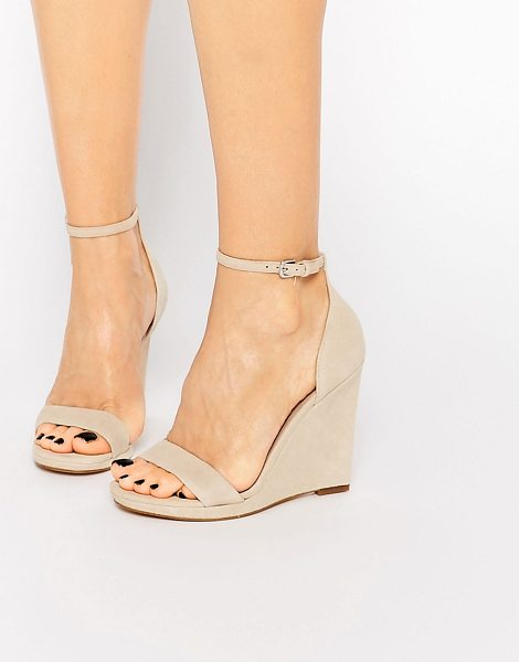 ALDO Elley nude wedge sandals - Wedges by ALDO, Suede upper, Pin buckle ankle strap,...