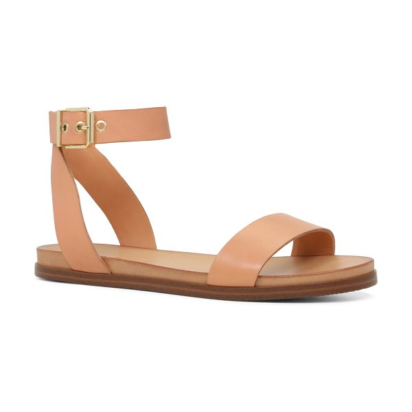 ALDO Erina in bone - A two-piece sandal with a cool, minimal aesthetic is...