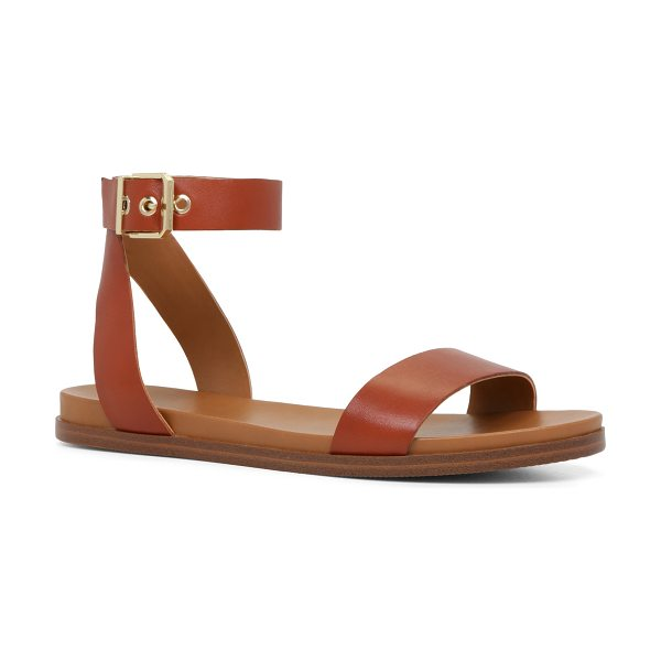 ALDO Erina sandals in brown - A two-piece sandal with a cool, minimal aesthetic is...