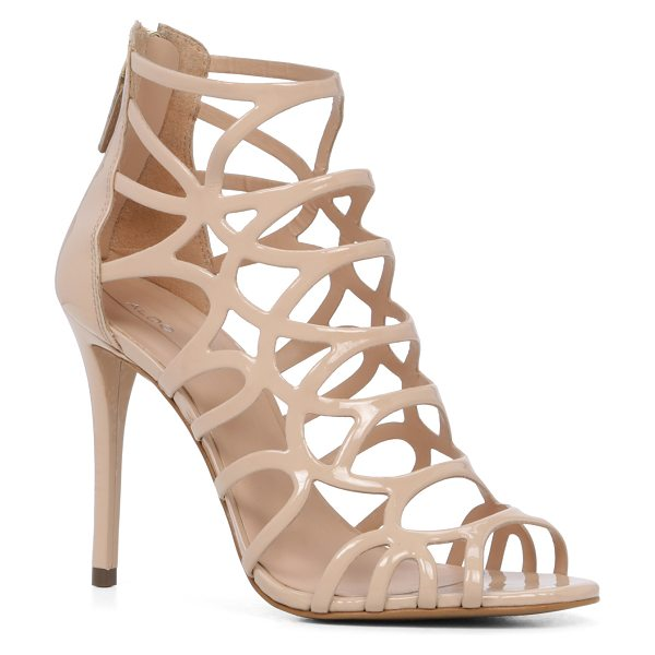 ALDO Eryde in bone - A striking caged sandal -set on a stiletto heel features...