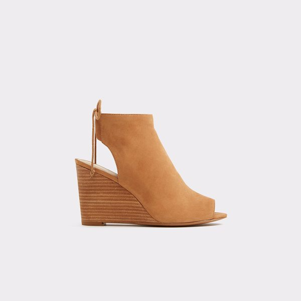 ALDO Fabiolla in cognac - With a wedge heel and bohemian ankle ties, the Fabiola...