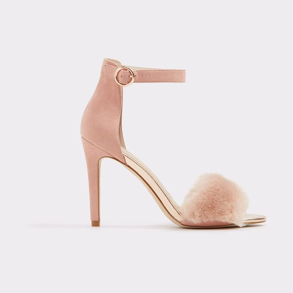ALDO Faeri in pink - Plush faux fur adds textural interest to a chic high...