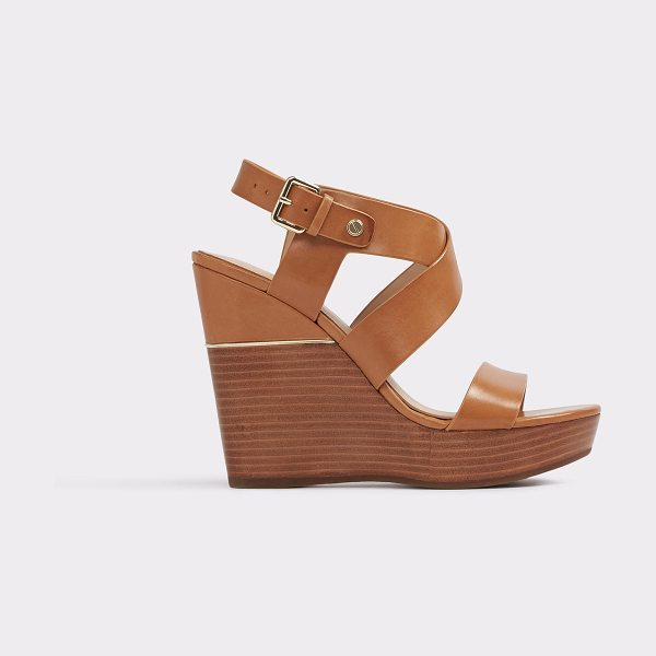 ALDO Faustina in camel - Standout wedge sandal takes the boho look to...