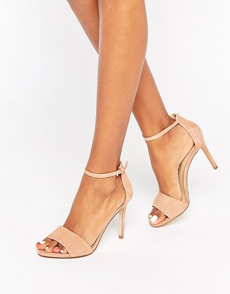 ALDO Fiolla Ankle Strap Suede Heeled Sandals in beige - Shoes by ALDO, Suede upper, Ankle-strap fastening, Open...