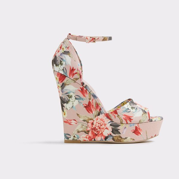 ALDO Fleurinia in light pink - A sky-high wedge sandal sealed with a kiss. With a...