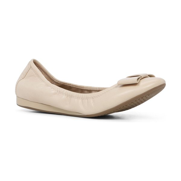 ALDO Follan flats in bone - A versatile favorite, finished with a bow at the toe. -...