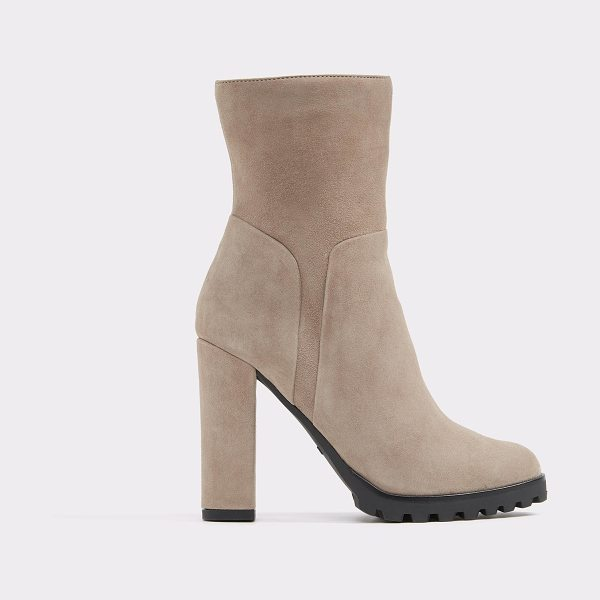 ALDO Fresi in taupe - The block heel, the slim ankle, the lug sole: this...
