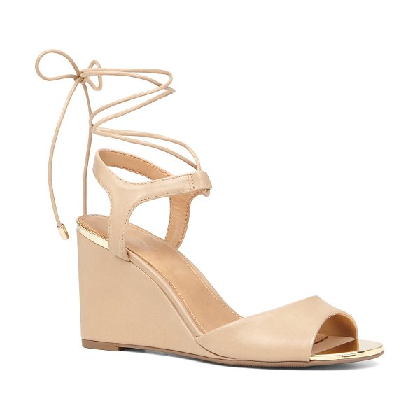 ALDO Frizzell - A stylish wedge sandal with straps that tie at the ankle...
