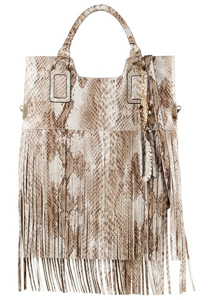 ALDO Frosinone shoulder bag in bone misc. - We love a bag with a lot of character like this fringed...
