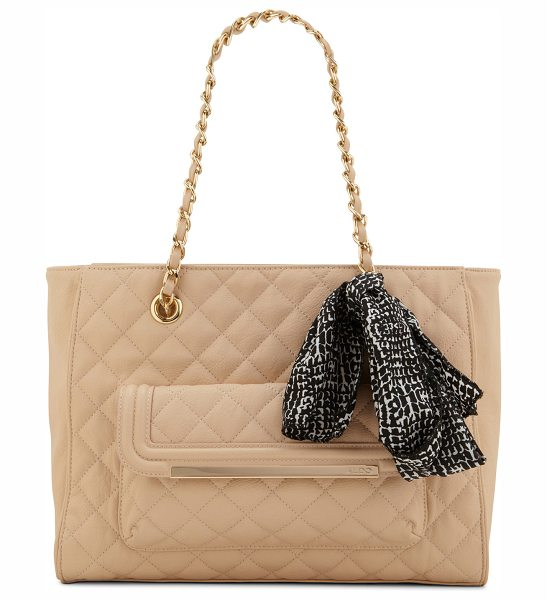 ALDO Gabilaroga shoulder bag in bone - Doesn't the padded texture on this one make it extra...