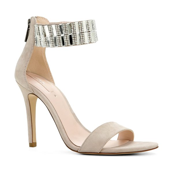 ALDO Galenadda sandals in bone - A rhinestone-adorned ankle strap lends fierceness to a...