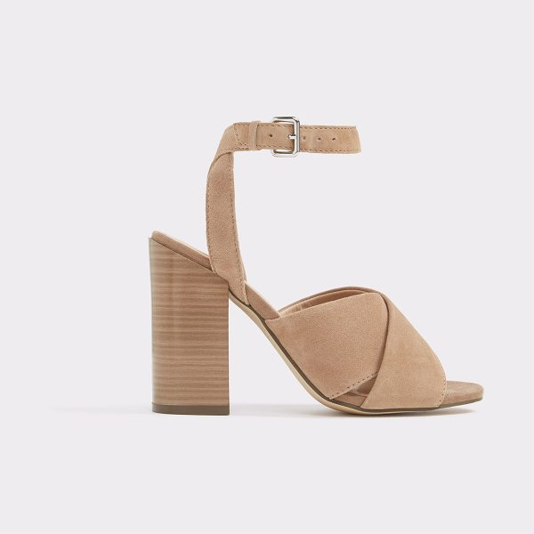 ALDO Gilliana in bone nubuck - Visually exciting strapping as seen on this year's...