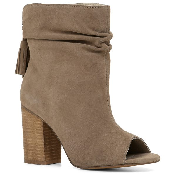 ALDO Glassberg boots in taupe - Be bold and opt for these jaw-droppping open-toe booties...
