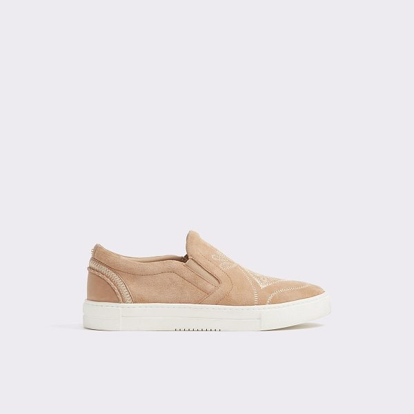 ALDO Grilla in pink - Channel your inner skate girl in this suede plimsoll...