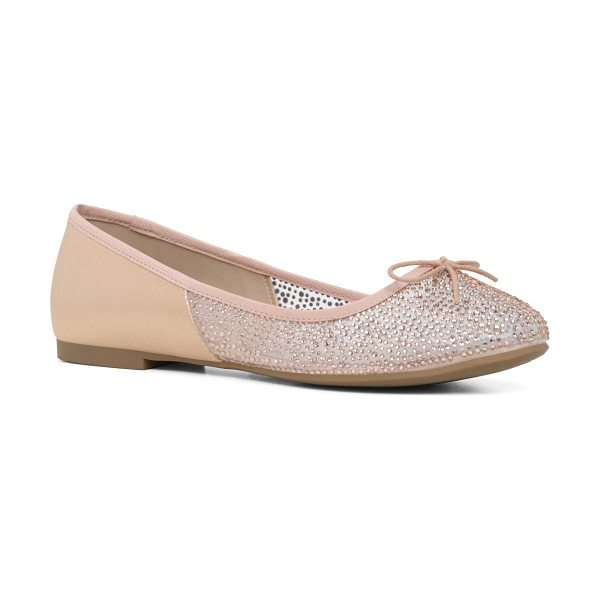 ALDO Gweidda flats in bone - Rhinestones and dainty bow sweetens up the everyday...