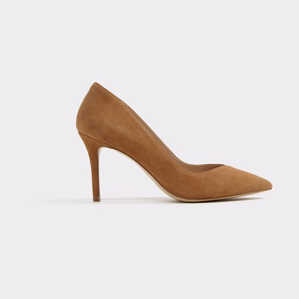 ALDO Jaysee in cognac - A luxe leather stiletto pump hits the sweet spot between...