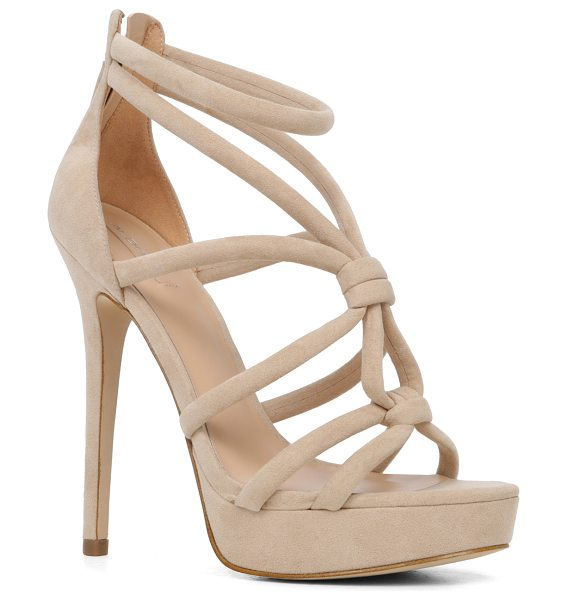 ALDO Jerillan in bone - Now this is how we tie the knot: crisscross suede straps...