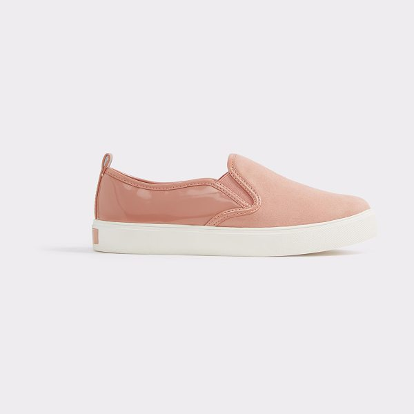 ALDO Jille in pink - Mixed materials dare this slip-on loafer to be...