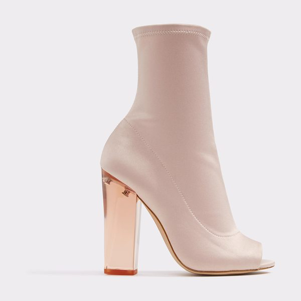 ALDO Jupiter in light pink - Lucite heel elevates the understated style and...