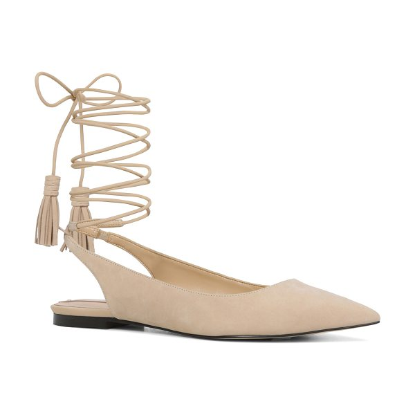 ALDO Kailang flats in beige/taupe - The pointy-toe flat revamped with a modern metal heel...