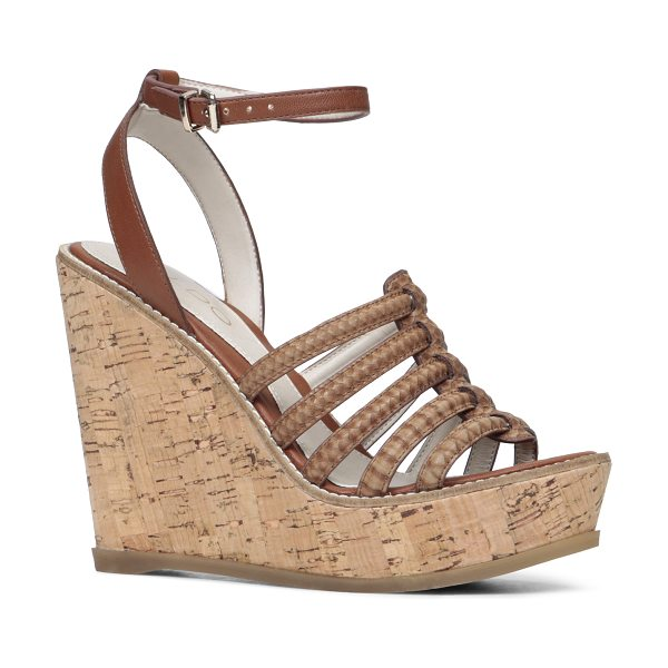 ALDO Kairedda sandals - Two-piece. - Cork-like wedge. - Almond toe. - Open toe....