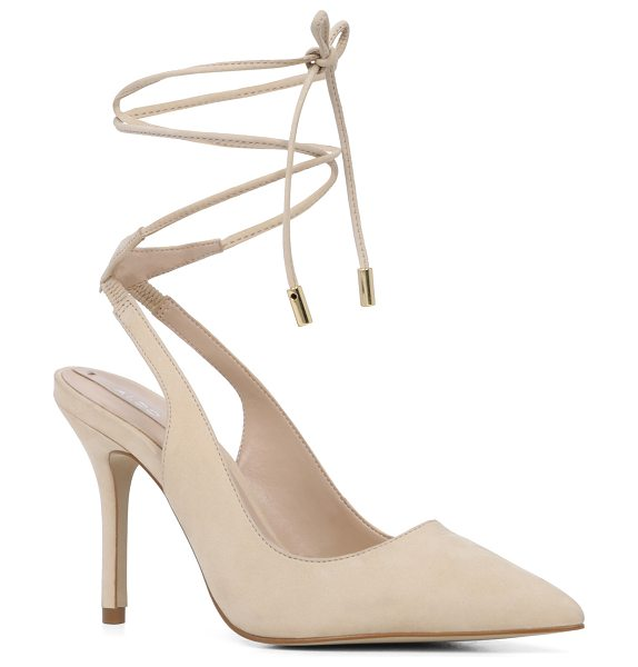 ALDO Kalala in bone nubuck - A head-turning pump features metal-capped laces and...