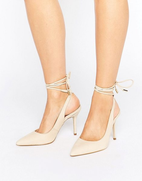 ALDO Kalala Tie Up Pumps in beige - Shoes by ALDO, Smooth leather upper, Lace-up fastening,...
