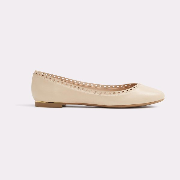 ALDO Kaydien in bone - A timeless ballet flat made modern courtesy of...