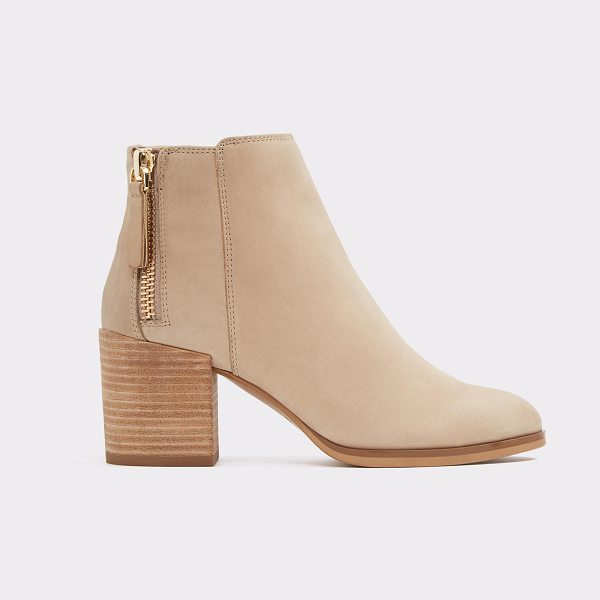 ALDO Kelii in beige - Our nubuck booties were made for walking with their low...