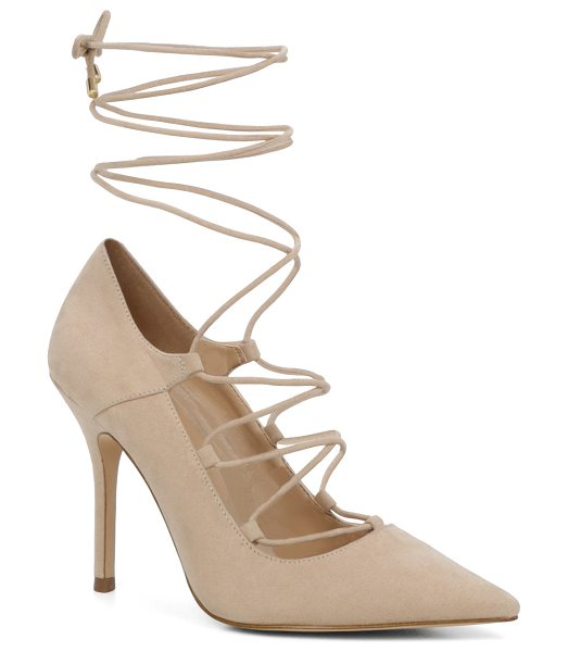 ALDO Kenneson in bone - A stand-out stiletto sexed up with leg-climbing laces....