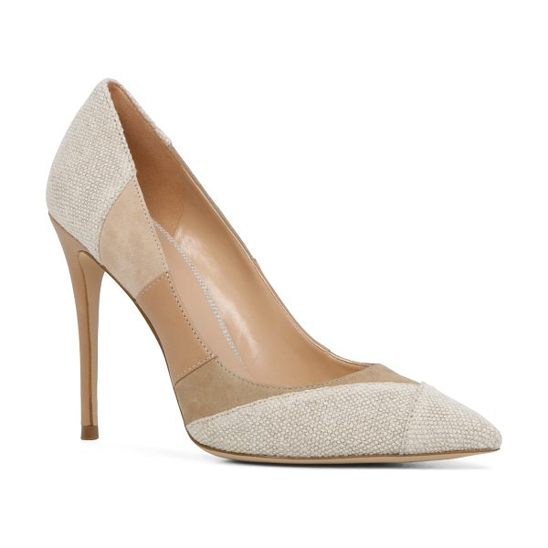 ALDO Kessi in natural - A sleek pump plays with patchwork courtesy of denim...
