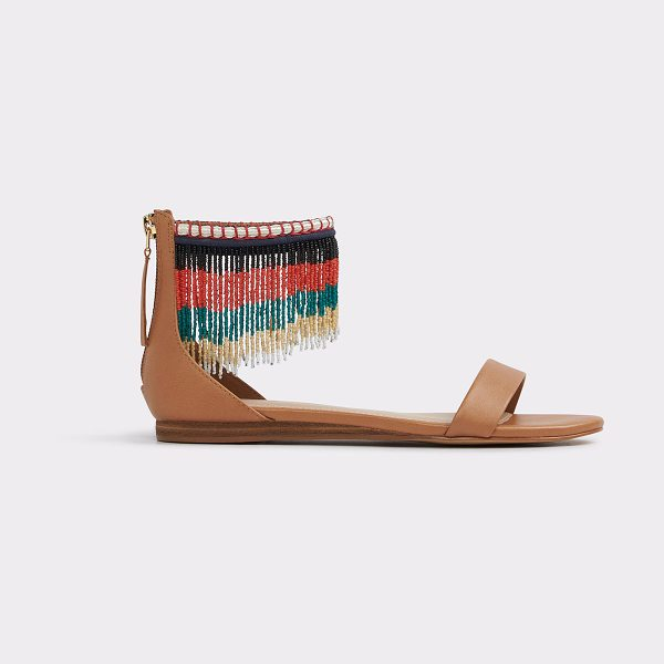 ALDO Larysa in cognac - Beauty and the beads: a standout flat sandal, draped in...