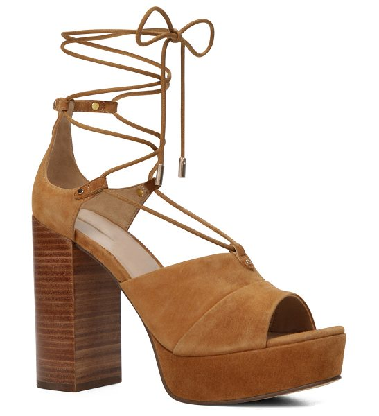 ALDO Layma in light brown - Sky high, high style. The platform sandal is back with a...