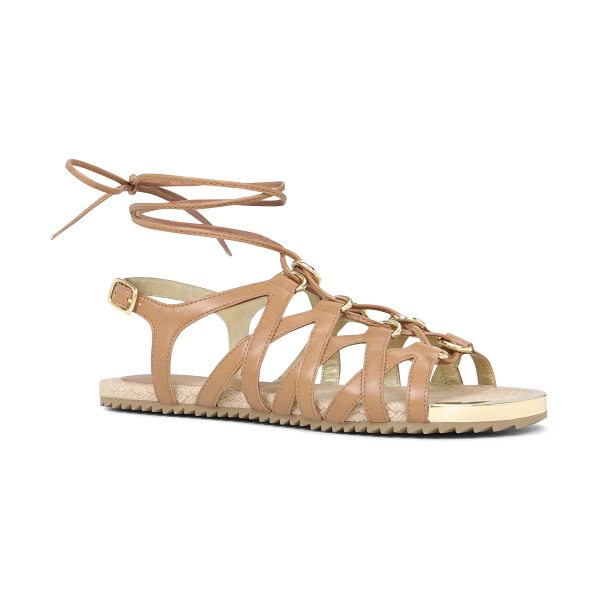 ALDO Lidia sandals in cognac - Multi-strap ankle wrap. - Rubber sole. - Round toe. -...
