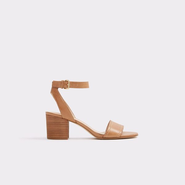 ALDO Lolla in cognac - Join the block (heel) party and step in this supple...