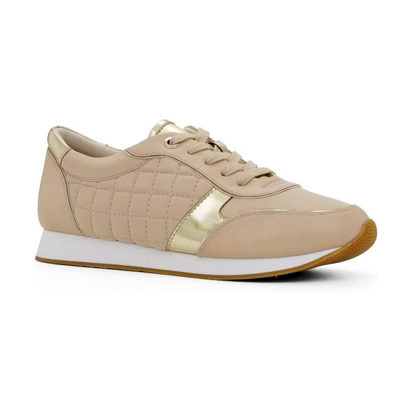 ALDO Loveria in bone - These cool sneakers feature golden accents for a very...