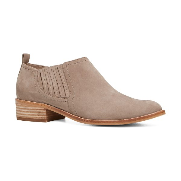 """ALDO Luzzena in taupe - Part ankle boot, part shoe, this """"shootie"""" delivers boho..."""
