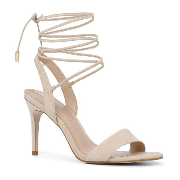 ALDO Marilyn in bone nubuck - A sexy night-out sandal with ties that wrap at the ankle...