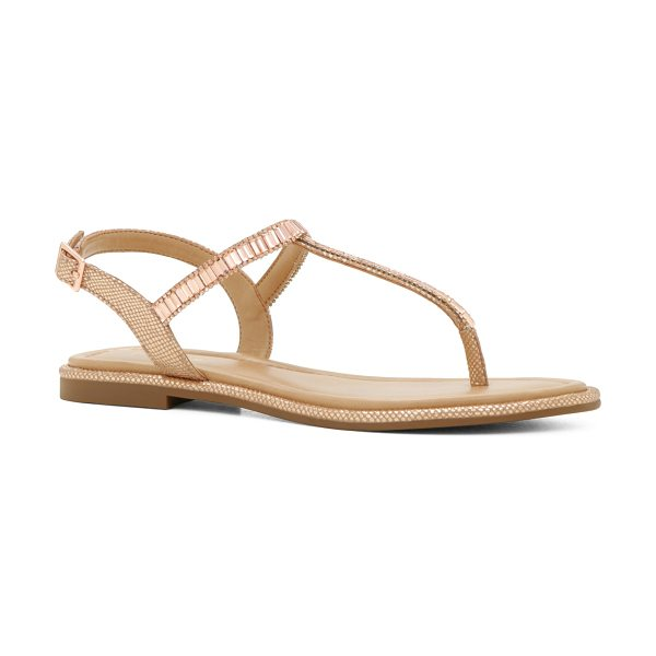 ALDO Mazzorno-U in champagne - Glam up your go-to sandal with shiny embellishments and...