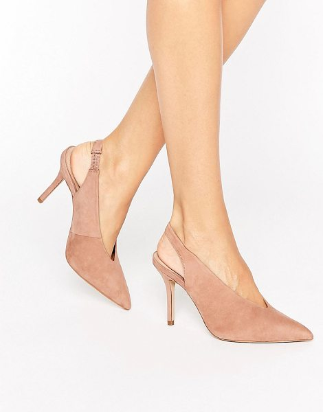 "ALDO Minett Point Slingback Heeled Shoes in beige - """"Shoes by ALDO, Suede upper, Sling back strap, Pointed..."