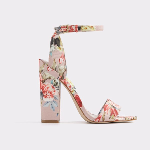 ALDO Miyaa - A high- heel ankle strap sandal blooms with an eclectic...