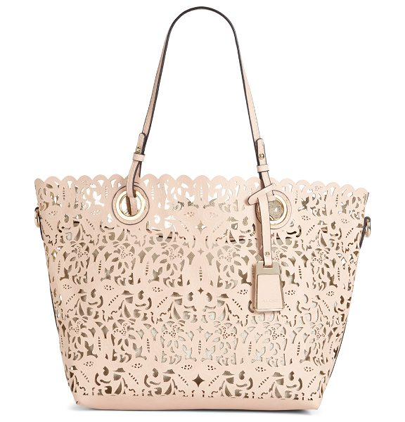 ALDO Montemesola shoulder bag in bone - Intricate laser cut pattern is a modern reinvention of...