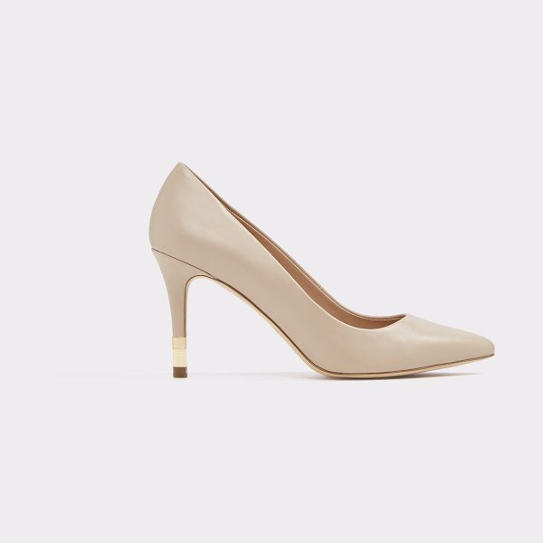 ALDO Montii in bone - This dressy little pointed toe pump with a touch of gold...