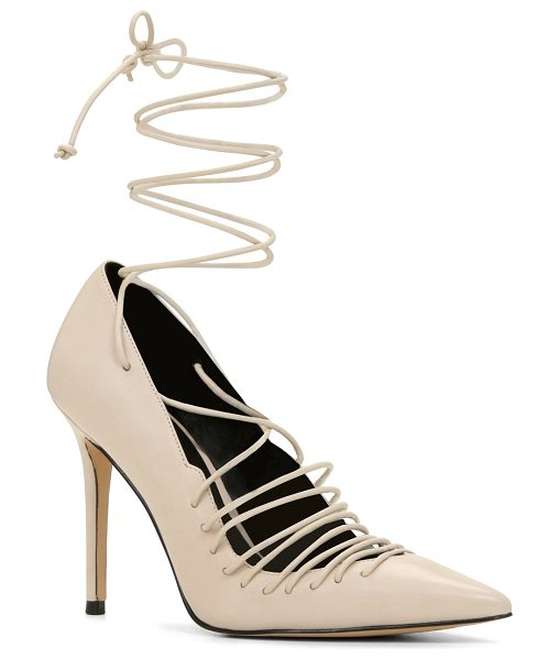 ALDO Nanna pumps in bone - Take a walk on the wild side with these edgy pointy-toe...